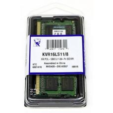 Kingston 8GB (1x8GB) DDR3L SODIMM 1600MHz 1.35V / 1.5V Dual Voltage ValueRAM Single Stick Notebook Memory KVR16LS11/8