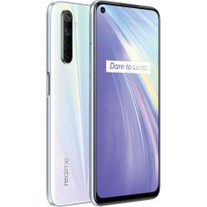 realme 6 Comet White 6.5' fullscreen display, 64MP AI Quad camera, Helio G90T processor, 8GB RAM, 128GB ROM, 4300mAh Battery RMX2001 White