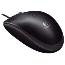 Logitech M100R Corded Optical Mouse Black Full Size Corded Comfort 3yr wty (LS->MILT-M90) LS 910-005005
