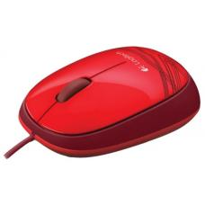 Logitech M105 Corded Optical Mouse Red - High-definition optical tracking Full-size comfort Ambidextrous design- 910-002933 910-002933
