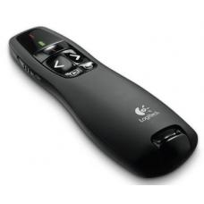 Logitech R400 Wireless Presenter, 15m Range, Red laser pointer Battery indicator Plug-and-play wireless receiver 910-001361