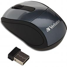 Verbatim Wireless Optical Mini Travel Mouse - Graphite 97470