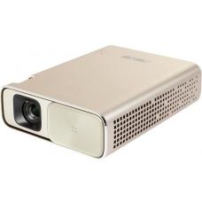 ASUS ZenBeam Go E1Z USB Pocket Projector, 150 Lumens, Built-in 6400mAh Battery, Up to 5-hour Projection time, Power Bank, Micro USB / Type-C E1Z