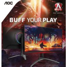 AOC AGON 31.5' 2560x1440 QHD VA 1ms, 144Hz 550nits Curved 1500R, Free-Sync 2, HDR 400, USB 3.2 Gen1x 4, Speakers & HAS AG323QCXE
