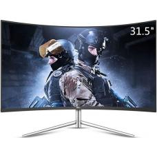 AOC 31.5' VA IPS-Type 4ms 2560x1440 Ultra Narrow Border Curved Monitor - DP/HDMI/VGA Tilt VESA75mm Low Blue Mode Flicker Free CQ32V1/75