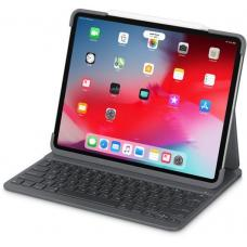 Logitech Slim Folio 12.9' iPad Pro 3rd gen Bluetooth Backlit Keyboard Smart Connector Foldable Shortcut Magnetic Latch Multiples iOS Shortcuts 920-009124