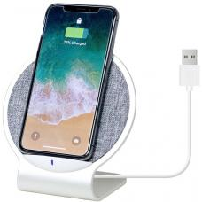 mbeat Aurora 10W Dual Coil Aluminium Wireless Charging Stand - Allows Vertical and Horizontal Placement/Mobile Stand/Supports Quick Charge Input MB-WCS-01