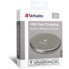 Verbatim Metallic Wireless Charger-Gray 65794