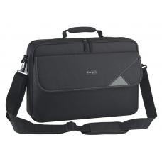 Targus 15.6' Intellect Bag Clamshell Laptop Case with Padded Laptop Compartment/ Laptop/Notebook Bag - Black TBC002AU