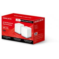 Mercusys Halo S12(2-pack) AC1200 Whole Home Mesh Wi-Fi 1167Mbps System, One Unified Network, Seamless Roaming, Coverage Up To 260sqm Halo S12(2-pack)
