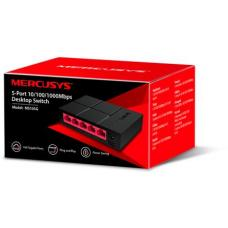 Mercusys MS105G 5-Port Gigabit Desktop Switch, 5x Gigabit Ports, Compact Design, Plug N Play, Green Ethernet Technology MS105G