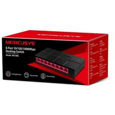 Mercusys MS108G 8-Port Gigabit Desktop Switch, 8x Gigabit Ports, Compact Design, Plug N Play, Green Ethernet Technology MS108G