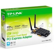 TP-Link Archer T6E AC1300 Wireless Dual Band PCI Express Adapter 1300Mbps 5GHz (867Mbps) 2.4GHz (400Mbps) 802.11ac 2x External Antennas ~TL-WDN4800 ARCHER T6E