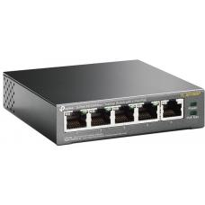 TP-Link TL-SF1005P 5-Port 10/100Mbps Desktop Switch with 4-Port PoE 58W IEEE 802.3af compliant 1Gbps Switching TL-SF1005P