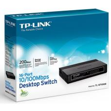 TP-Link TL-SF1016D 16-Port 10/100Mbps Desktop Switch or wall-mounting design Plug and play 3.2Gbps Switching Capacity Auto-MDI/MDIX Supports MAC TL-SF1016D