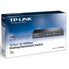 TP-Link TL-SF1016DS 16-Port 10/100Mbps Smart Switch or wall-mounting design Plug and play 3.2Gbps Switching Capacity Auto-MDI/MDIX Supports MAC TL-SF1016DS