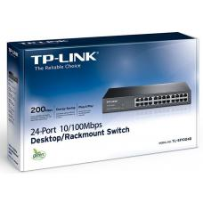 TP-Link TL-SF1024D 24-Port 10/100Mbps Rackmount Unmanaged Switch energy-efficient Supports MAC 13-inch Desktop steel case 4.8 Gbps Switching Cap TL-SF1024D