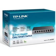 TP-Link TL-SG108E 8-Port Gigabit Easy Smart Switch Provides network monitoring, traffic prioritization and VLAN Web-based user interface Fanless TL-SG108E