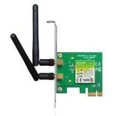 TP-Link TL-WN881ND N300 Wireless N PCI Express Adapter 2.4GHz (300Mbps) 802.11bgn 2x2dBi Detachable Omni Antennas MIMO with Low Profile Bracket TL-WN881ND