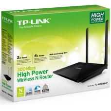 TP-Link TL-WR841HP N300 High Power Wireless N Router 2.4GHz (300Mbps) 4x100Mbps LAN 1x100Mbps WAN 802.11bgn 2*5dBi Detachable Omni Directional WPS but TL-WR841HP