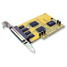 Sunix 4 Port Serial PCI Card SER5056A, 4 ports DB9M/25M, Speeds up to 115.2Kbps, Support Microsoft Windows, Linux, and DOS COMCARD-4P