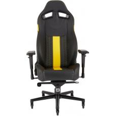 CORSAIR T2 ROAD WARRIOR, High Back Desk and Office Chair, Black/Yellow, 2 Year Warranty. CF-9010010-WW
