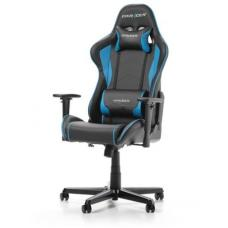 DXRacer Formula FL08 Gaming Chair Black & Blue - Sparco Style Neck/Lumbar Support/NB Gaming/Office/Ergonomic Desk Chair/Black PU Leather OH/FL08/NB