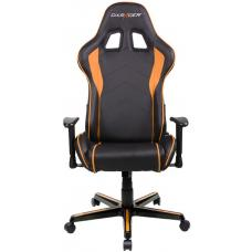 DXRacer Formula FL08 Gaming Chair Black & Orange - Sparco Style Neck/Lumbar Support/NB Gaming/Office/Ergonomic Desk Chair/Black PU Leather OH/FL08/NO