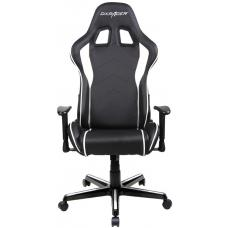 DXRacer Formula FL08 Gaming Chair Black & White - Sparco Style Neck/Lumbar Support/NB Gaming/Office/Ergonomic Desk Chair/Black PU Leather OH/FL08/NW
