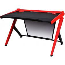 DXRacer 1000 Series Gaming Desk Black & Red - 10 Degree Slope/Extended Work Surface/Stable Structure/Wire Management Openings/Raised Perimeter/Gaming/ GD/1000/NR