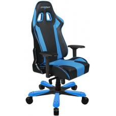 DXRacer King KS06 Gaming Chair Black & Blue - Neck/Lumbar Support/PU Leather/Large Size Seat/Office/Gaming Ergonomic/Head and Lumbar Support Pillows OH/KS06/NB