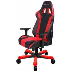 DXRacer King KS06 Gaming Chair Black & Red - Neck/Lumbar Support/PU Leather/Large Size Seat/Office/Gaming Ergonomic/Head and Lumbar Support Pillows OH/KS06/NR