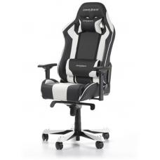 DXRacer King KS06 Gaming Chair Black & White - Neck/Lumbar Support/PU Leather/Large Size Seat/Office/Gaming Ergonomic/Head and Lumbar Support Pillows OH/KS06/NW