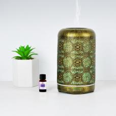 mbeat activiva Metal Essential Oil and Aroma Diffuser-Vintage Gold -260ml ACA-AD-M1