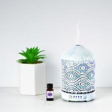 mbeat activiva Metal Essential Oil and Aroma Diffuser-Vintage White -100ml ACA-AD-S2