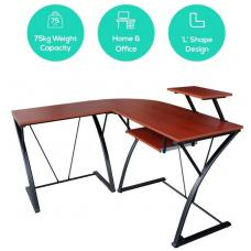 mbeat actiVIVA Khloe L-Shape Modern Computer Desk - MDF Board/Powder Coated Frame/Weight Capacity 75kgs/Ideal for Home Office Computer Work Desk ACA-CDK-3K
