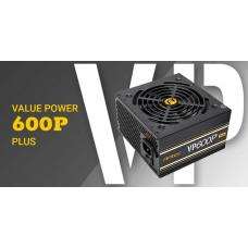 Antec VP600 PLUS 600w PSU. 120mm Silent Fan, PLUS 2019 version. MEPS Compliant. 3 Years Warranty VP600P PLUS