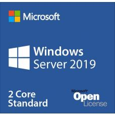 Microsoft Windows Server Standard CORE 2019, OLP 2 Licenses No Level Core Licence (2 Core Per SKU) 9EM-00653