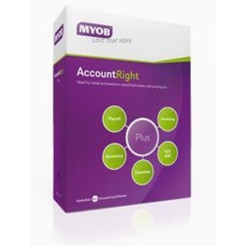 MYOB AccountRight Plus Retail Box 1U SMYACCRIGHTPLUS