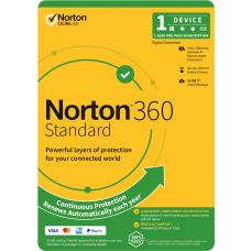Norton 360 Standard, 10GB, 1 User, 1 Device, 12 Months, PC, MAC, Android, iOS, DVD, VPN, Parental Controls, Retail Edition, Subscription 21396543