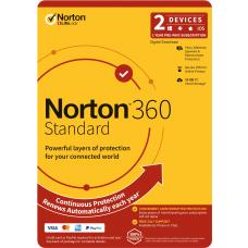 Norton 360 Standard, 10GB, 1 User, 2 Devices, 12 Months, PC, MAC, Android, iOS, DVD, OEM, Subscription 21396611