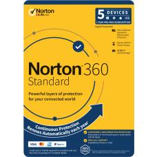Norton 360 Standard, 10GB, 1 User, 5 Devices, 12 Months, PC, MAC, Android, iOS, DVD 21396585