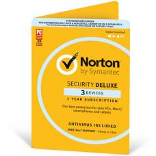 Norton Security Deluxe 2018, 3 Device, 12 Months, PC, MAC, Android, iOS, OEM 21368742