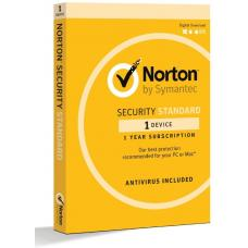 Norton Security Standard 1 Device Retail Box - Compatible with PC, MAC, Android, iOS 1 Year 21369638