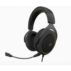 Corsair HS60 PRO Black Yellow Trim STEREO 7.1 Surround, memory foam, Discord Certified, PC and Console compatible Gaming Headset CA-9011214-AP