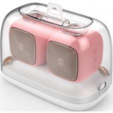 Edifier MP202 DUO 2.0 Bluetooth Portable Speaker - PINK/BT v4.2/MicroSD/USD/9 hrs battery life/12hrs playtime/Rubber Exterior/Pair MP202DUO-PINK