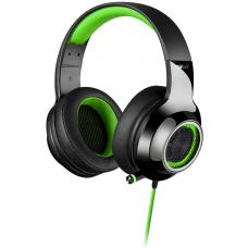 Edifier V4 (G4) 7.1 Virtual Surround Sound USB Gaming Headset Green - V7.1 Surround Sound/ Retractable Mic/LED Lights Mesh/USB/Gaming/PC/Laptop V4-GREEN