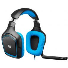 Logitech G430 Surround Sound Gaming Headset On-Cable Controls Surround Sounds Audio Rotating Ear Cups Lightweight Design - 981-000538 981-000538