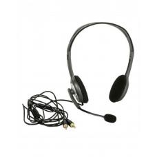 Logitech H110 Stereo Headset Over-the-head Headphone 3.5mm Versatile Adjustable Microphone for PC Mac 981-000459