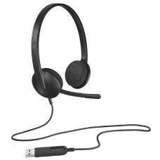 Logitech H340 Plug-and-Play USB headset with Noise Cancelling Microphone Comfort Design fro Windows Mac Chrome 2yr wty 981-000477